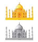 Taj Mahal in India. Vector illustration Royalty Free Stock Photos