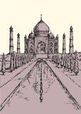 Taj Mahal in India. Vector sketch Royalty Free Stock Photos