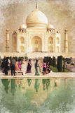 Taj Mahal in India, vintage process Royalty Free Stock Photography