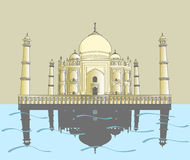 Taj Mahal. Indian palace Royalty Free Stock Photo
