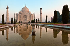 Taj Mahal in Indien stockbild
