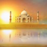 Taj Mahal Indien solnedgång Royaltyfri Fotografi