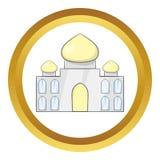 Taj Mahal Indien symbol vektor illustrationer
