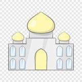 Taj Mahal Indien symbol, tecknad filmstil stock illustrationer