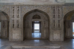 Taj mahal. An inside view of one of the Taj Mahal buildings Stock Photo