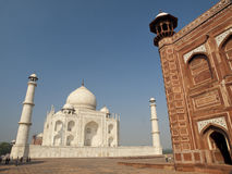 Taj Mahal and its guest house Stock Images