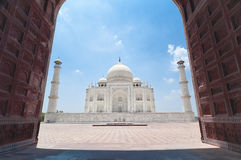 Taj Mahal from Jawab. View of Taj Mahal beautiful mosque from Jawab doors(landscape orientation Stock Photos