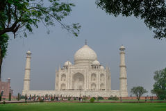 Taj Mahal jest białym marmurowym mauzoleumem na południowych półdupkach Fotografia Royalty Free