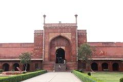 Taj Mahal jest Białym marmurowym mauzoleumem w banku rzeczny Yamun Zdjęcie Stock