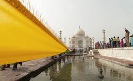 Taj Mahal: kleuren van India Stock Foto