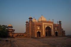 Taj Mahal komplex Agra Fotografering för Bildbyråer