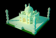 Taj Mahal - konst 3d vektor illustrationer
