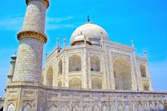 Taj Mahal landmark in India Stock Image