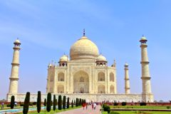 Taj Mahal landmark in India Royalty Free Stock Image