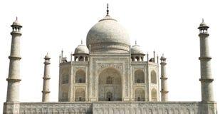 Taj Mahal lopp till Agra Indien som isoleras Arkivfoto