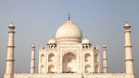 Taj Mahal. Is made of white stone i.e marble. It was built Mughal Emperor Shah Jahan in 1653 in memory of his beloved late wife Mum. This is symbol of Love and Royalty Free Stock Image