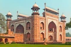 Taj Mahal magistrali brama Fotografia Royalty Free