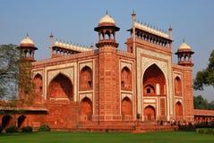 Taj Mahal Main-gateway Stock Afbeelding
