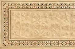 Taj Mahal, marbled inlay mosaic Royalty Free Stock Images