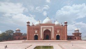 Taj Mahal Masjid Meczetowy widok Fotografia Royalty Free