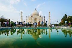 Taj-Mahal mausoleum Royaltyfri Fotografi