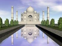 Taj Mahal-mausoleum, Agra, 3D India - geef terug vector illustratie