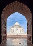 Taj Mahal-mausoleum, Agra, India stock afbeeldingen