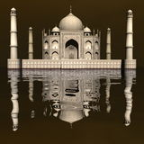 Taj Mahal mausoleum, Agra, India - 3D render Stock Images