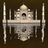 Taj Mahal mausoleum, Agra, Indien - 3D framför royaltyfri illustrationer