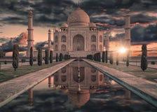 Taj Mahal mausoleum in Agra Stock Photos