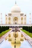 Taj Mahal mausoleum in the city of Agra, India Stock Images