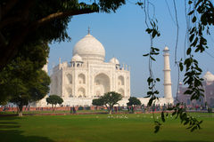 Taj Mahal Mausoleum with clear blue sky, Agra, India. Stock Photos