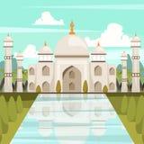 Taj Mahal Mausoleum In India ortogonal sammansättning royaltyfri illustrationer