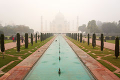 Taj Mahal Mausoleum on a sunset, Agra, India. Royalty Free Stock Photography