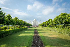 Taj Mahal from Mehtab Baug. A View of the Taj Mahal, Agra from Mehtab Baug (Gardens) on the opposite bank of the Yamuna River Stock Photo