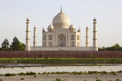 Taj Mahal from Mehtab Bhag. Royalty Free Stock Photography