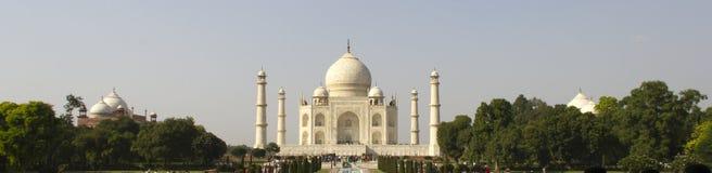 Taj Mahal (Mening Panoroma), Agra Stock Foto's