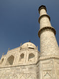 Taj Mahal and minaret Royalty Free Stock Images