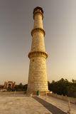 Taj Mahal Minaret at sunset Royalty Free Stock Photography