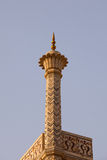 Taj Mahal Minaret at sunset Stock Photo