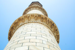 Taj Mahal minaret tower Royalty Free Stock Photos