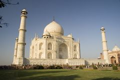 Taj Mahal with minarets Royalty Free Stock Photos