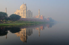Taj Mahal in the mist Stock Image