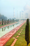 Taj Mahal on a misty morning Stock Image