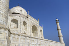 Taj mahal, A monument of love. A famous historical monument, the Greatest White marble tomb in India, Agra, Uttar Pradesh royalty free stock photography