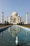 Taj Mahal with reflection in water Stock Photography