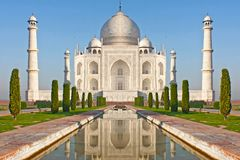 Taj mahal, monumento histórico famoso de A, Índia Imagens de Stock Royalty Free