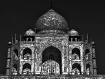 Taj Mahal moonlit Royalty Free Stock Image