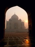 Taj Mahal in the morning Royalty Free Stock Photo