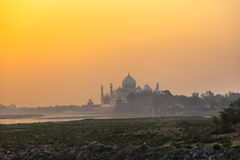 Taj Mahal in the morning mist Stock Photo